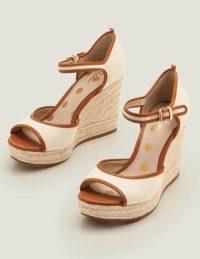 Boden Philippa Espadrille Wedges – Natural/Tan ~ retro wedge heels