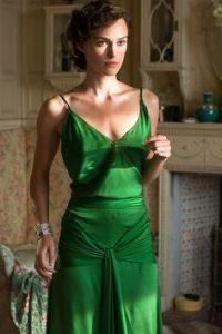 Kiera Knightly's green gown in Atonement