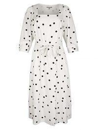 OLIVER BONAS Polka Dot Black & White Midi Dress