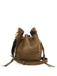 ISABEL MARANT Radja studded leather cross-body bag