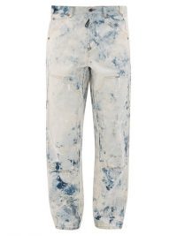 OFF-WHITE Reconstructed paint-print carpenter jeans