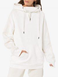 Reebok X Victoria Beckham white oversized hoodie / logo hoodies