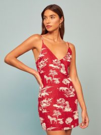 REFORMATION Riverside Dress in Nairobi / skinny strap dresses