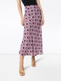 RIXO Kelly floral print maxi skirt in pink