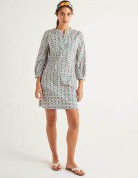 Boden Roberta Kaftan in Ivory, Plumeria ~ essential summer kaftans ~ casual vacation dress