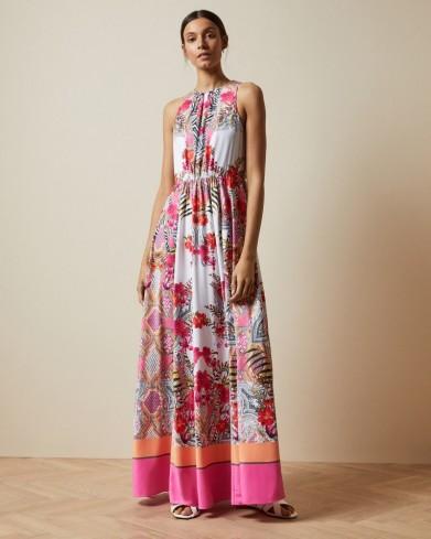 TED BAKER LANIAH Samba high neck maxi dress