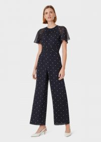 Hobbs SARAH JUMPSUIT in Midnight Ivory / occasion wear
