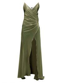 ADRIANA IGLESIAS Scarface silk-blend satin gown