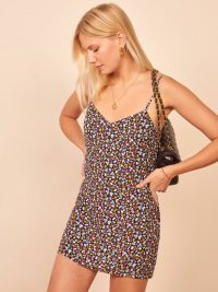 Reformation Seville Dress in Nolita | floral-print skinny strap mini dresses