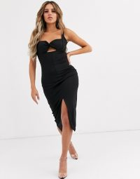 Significant Other paloma bustier midi dress | LBD