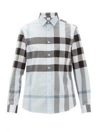 BURBERRY Somerton Nova-check cotton-blend poplin shirt / mens shirts / men's clothing