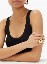 FENDI Spherical gold-tone ring ~ statement rings