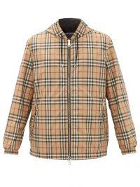 BURBERRY Stretton reversible Nova check technical jacket / men's checked jackets / mens outerwear