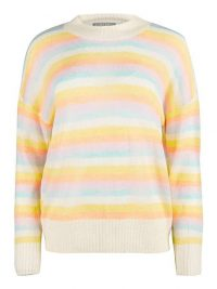 OLIVER BONAS Striped Lofty Knitted Jumper