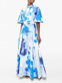 CAROLINA HERRERA Superbloom-print cotton-blend poplin gown – Matches Fashion