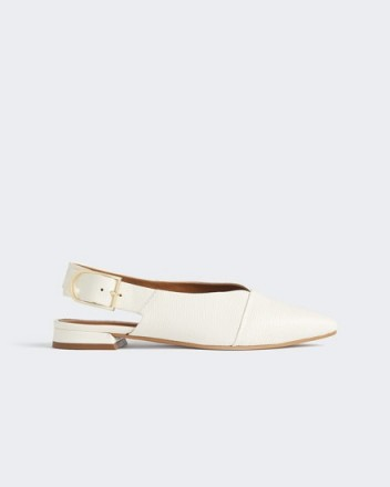Jigsaw SYLVIE LEATHER SLINGBACK Cream