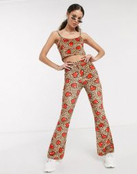 Tara Khorzad Leopard Red Heart Velvet Co-ord