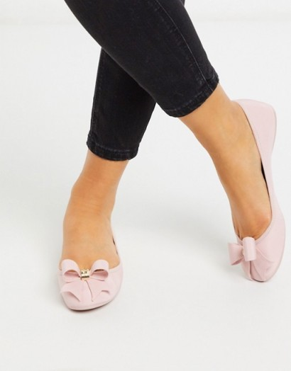 Ted Baker suallyz exclusive bow ballet pump in pink
