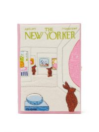 OLYMPIA LE-TAN The New Yorker Art Bunny clutch bag in pink