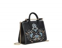 THE STRATHBERRY NANO TOTE PEARL PRINT BLACK ~ small printed handbags