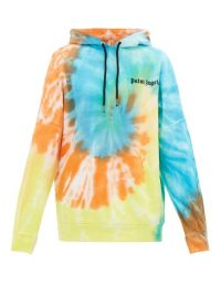 PALM ANGELS Tie-dye cotton hooded sweatshirt / men's sweatshirts / casual clothing