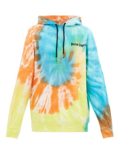 PALM ANGELS Tie-dye cotton hooded sweatshirt / men's sweatshirts / casual clothing