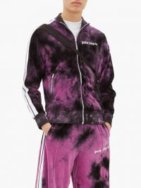 PALM ANGELS Purple tie-dyed velour track top