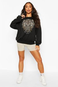 Tiger Beaded Sweat Top – boohoo