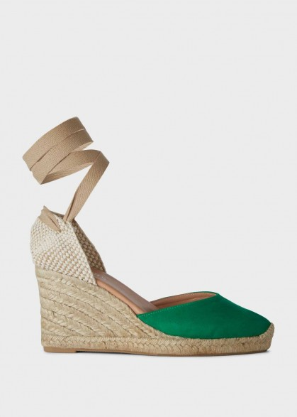 Hobbs TRINA ESPADRILLE Green   ankle tie espadrilles