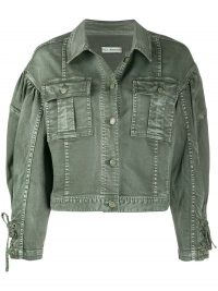 ULLA JOHNSON Atticus denim jacket in army green