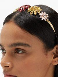 ROSANTICA Utopia floral crystal-embellished headband