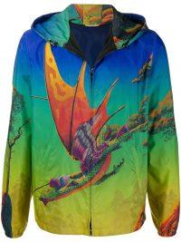 VALENTINO Dragon at Down hooded jacket