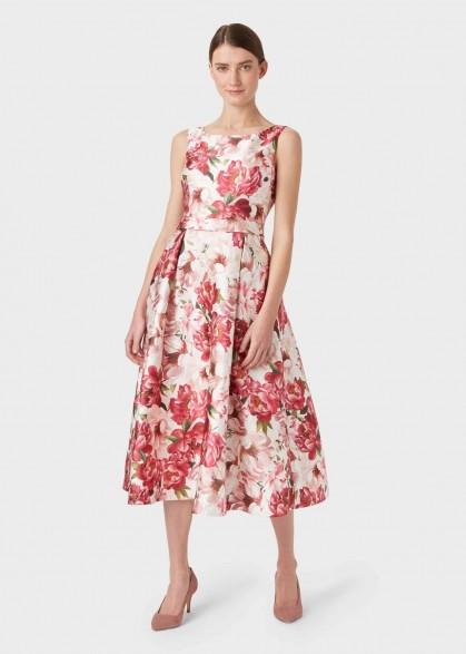 Hobbs VALERIA DRESS in Peony Multi / perfect garden party frock