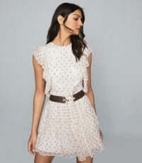 REISS VALERIE FLORAL PRINT MINI DRESS CREAM ~ feminine and fluttery dresses