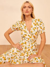 Reformation Veronika Dress in Lemonade / lemon print dresses