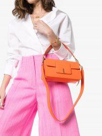 WANDLER Georgia orange-leather shoulder bag / small bright handbags