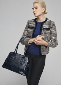 HOBBS WHITBY TOTE BAG NAVY