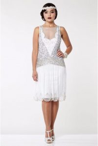 Flapper Dresses – Rock My Vintage White 1920s Dress
