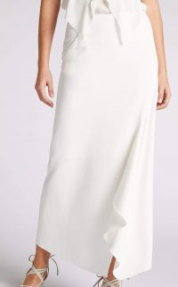 ROLAND MOURET WHITELEAF SKIRT White – asymmetric skirts