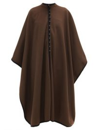 WILLIAM VINTAGE YSL 1976 buttoned wool cape in brown