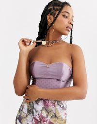 ZYA satin structured bustier light purple