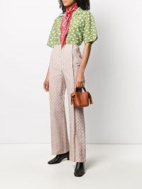 ACNE STUDIOS jacquard flared trousers | luxe look pants