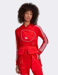adidas Originals Ji Won Choi x Olivia track top with removable front pocket in red