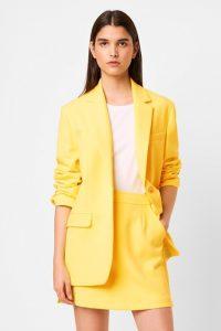 French Connection ADISA SUNDAE NEON BOYFRIEND JACKET Lemon Tonic – bright blazers