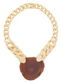 ZIMMERMANN Agate & gold-plated chain necklace ~ chunky necklaces