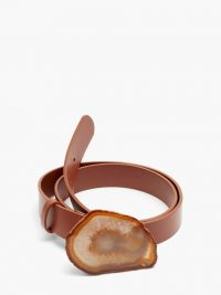GABRIELA HEARST Agate leather belt ~ statement belts