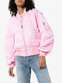 AMBUSH Pink panelled Bomber Jacket