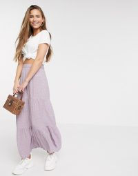 American Eagle tiered floral maxi skirt in lilac / lonf summer skirts