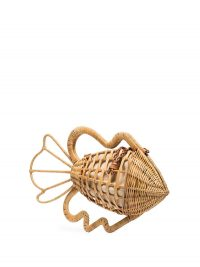 ARANAZ Pesca raffia clutch bag ~ fish shaped bags