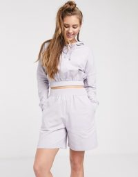 ASOS DESIGN lounge hoodie & board short in lilac